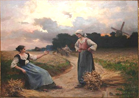 Deux glaneuses par Georges Paul François Laurent Laugée