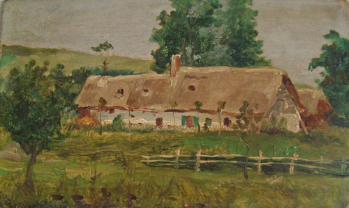 Une ferme normande  par Georges Paul François Laurent Laugée